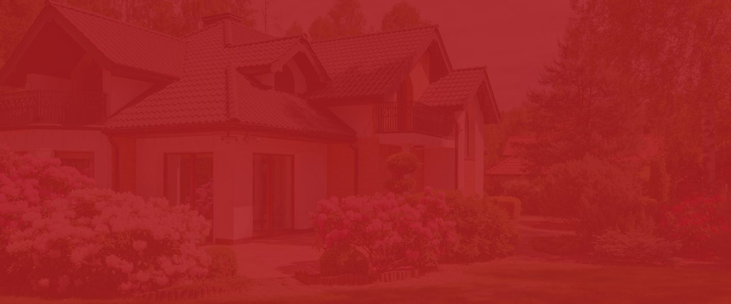 Red Background House