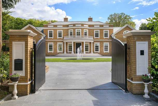 Luxury Home with a gate
