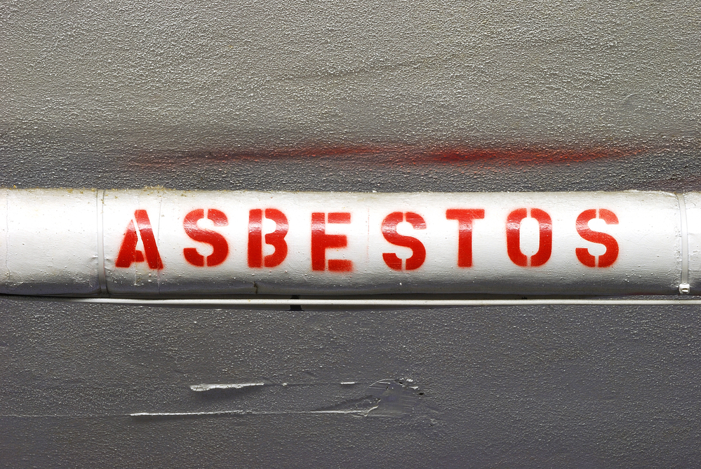 Asbestos on a pipe